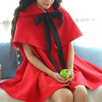 Red/black [little red riding hood]lolita two-piece cloak coat sp153715