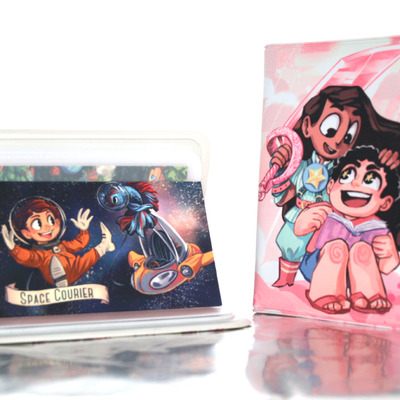 Card holder: connie & steven