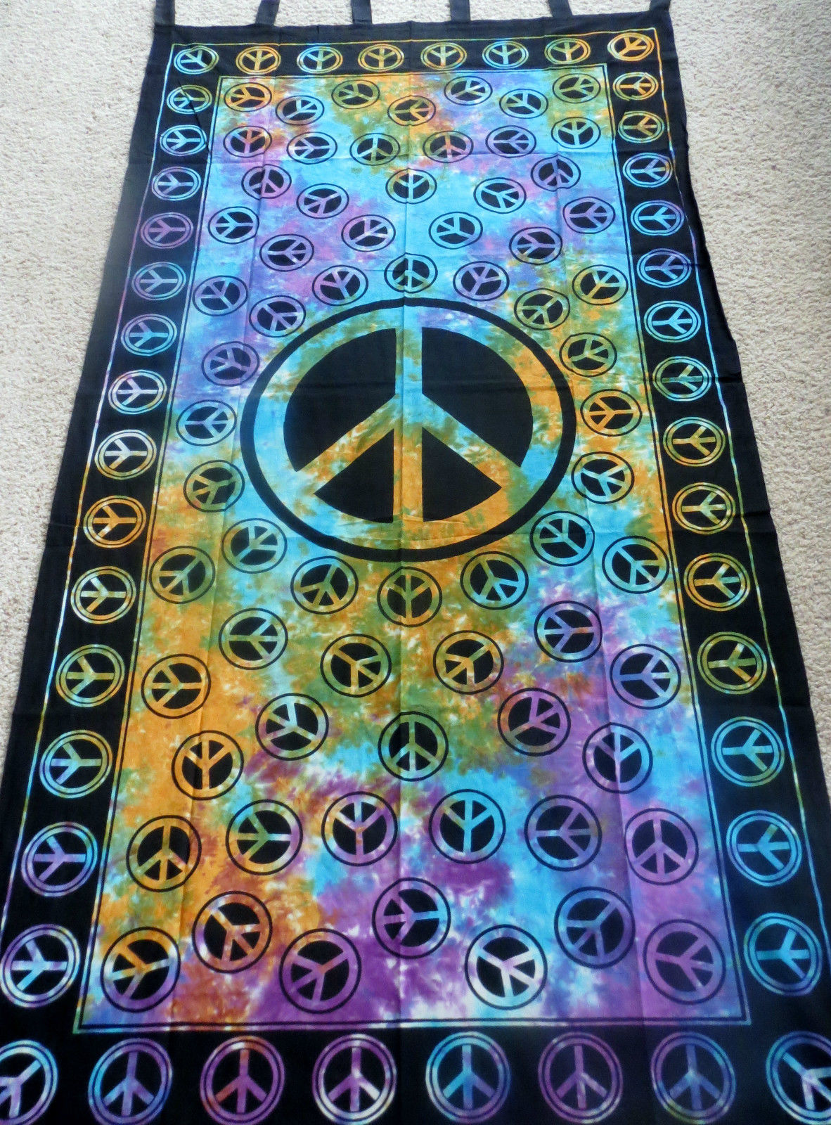 Peace Sign TIE DYE Hippie Indian Wall Hanging Tapestry Door Window Curtain & Peace Sign TIE DYE Hippie Indian Wall Hanging Tapestry Door Window ... pezcame.com
