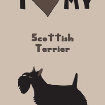 Scottish terrier, 5x7 print
