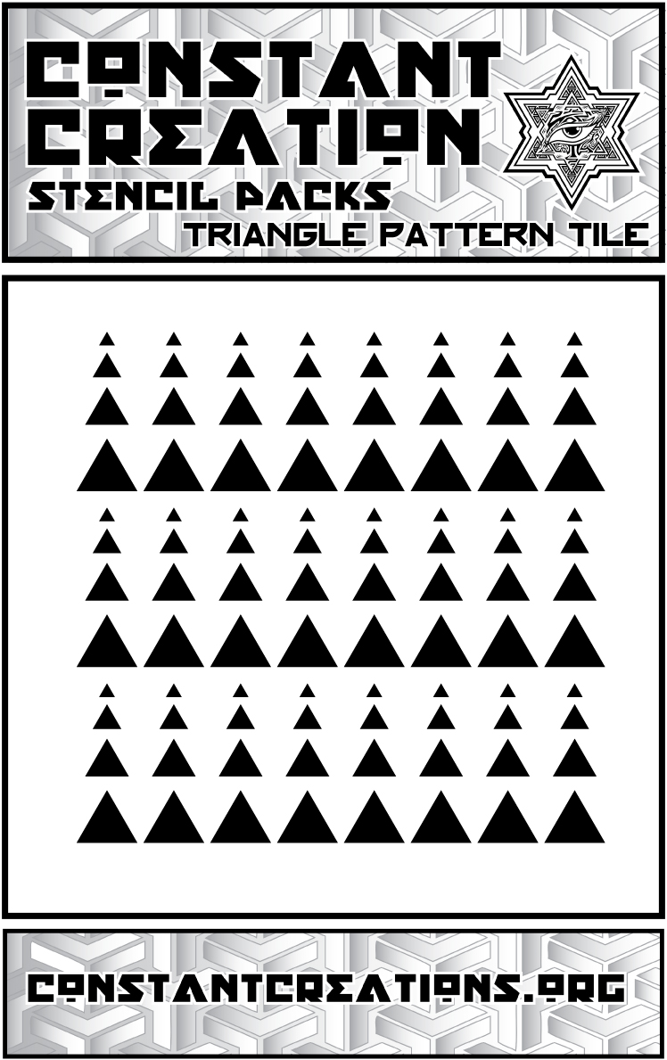 Triangle Tiling Pattern geometric LaserCut Stencil · Constant ...