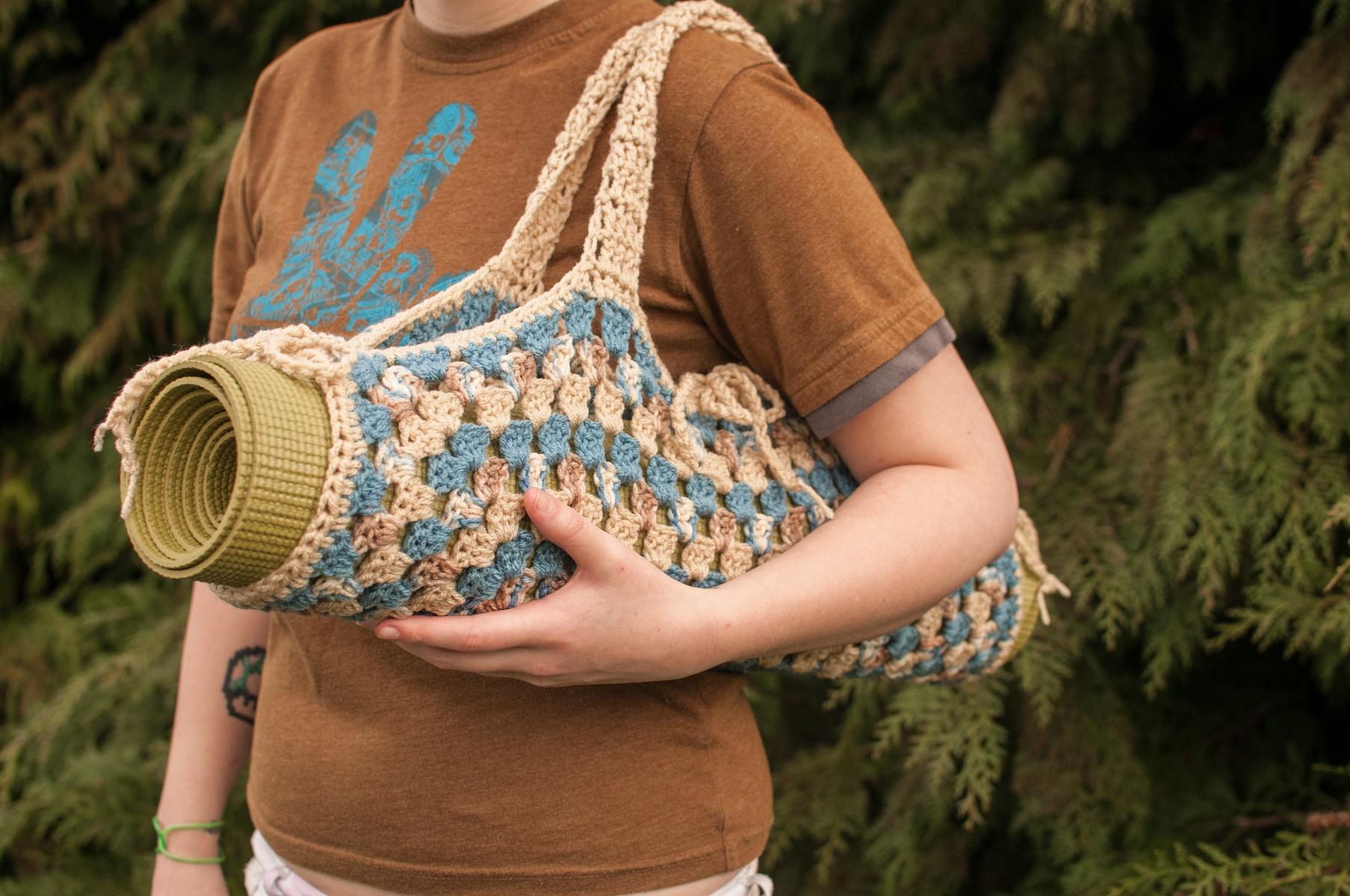 Sam\'s Crochet: Handmade Health | Granny Square Yoga Mat Bag | Online ...
