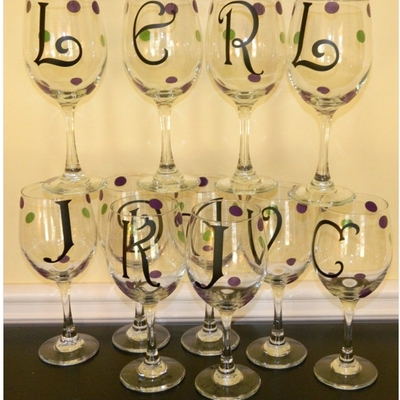 wine glasses the polka dotted sunflower online store powered
