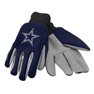 Cowboys colored palm utility gloves