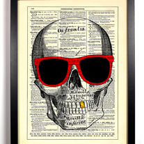 Image of Ghetto Skull, Vintage Dictionary, 8 x 10