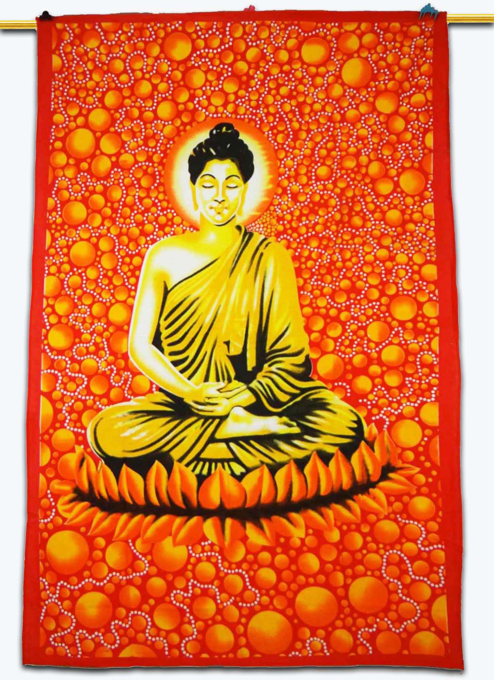 Indian Buddha Hippie Bohemian Tapestry Throw Wall Hanging Bedspread ...