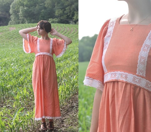 Lazy, Hazy Summer Days 70's Dress.