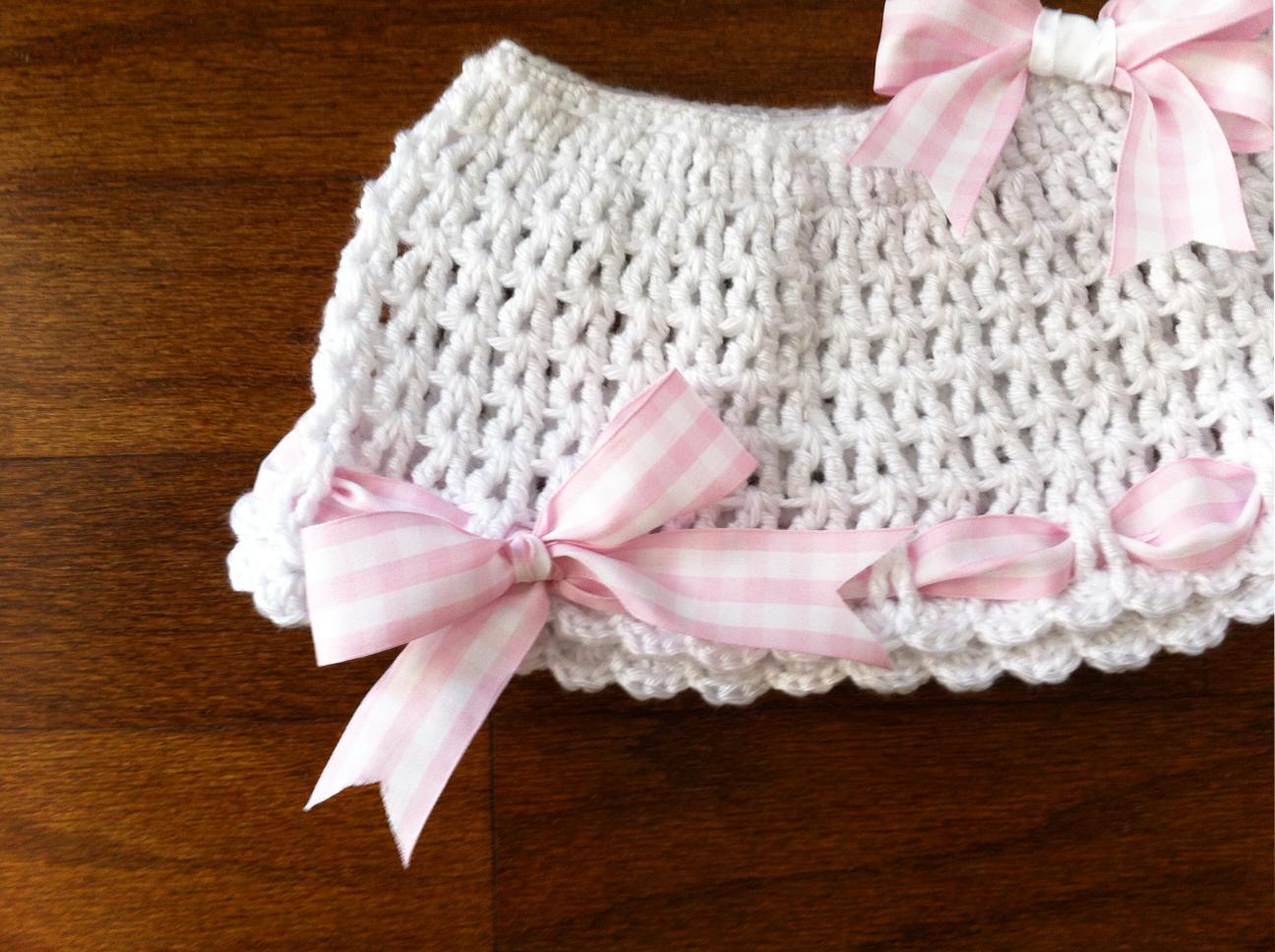 Newborn Ruffle Skirt Crocheted Set 0-12 Months, Baby Clothing ...