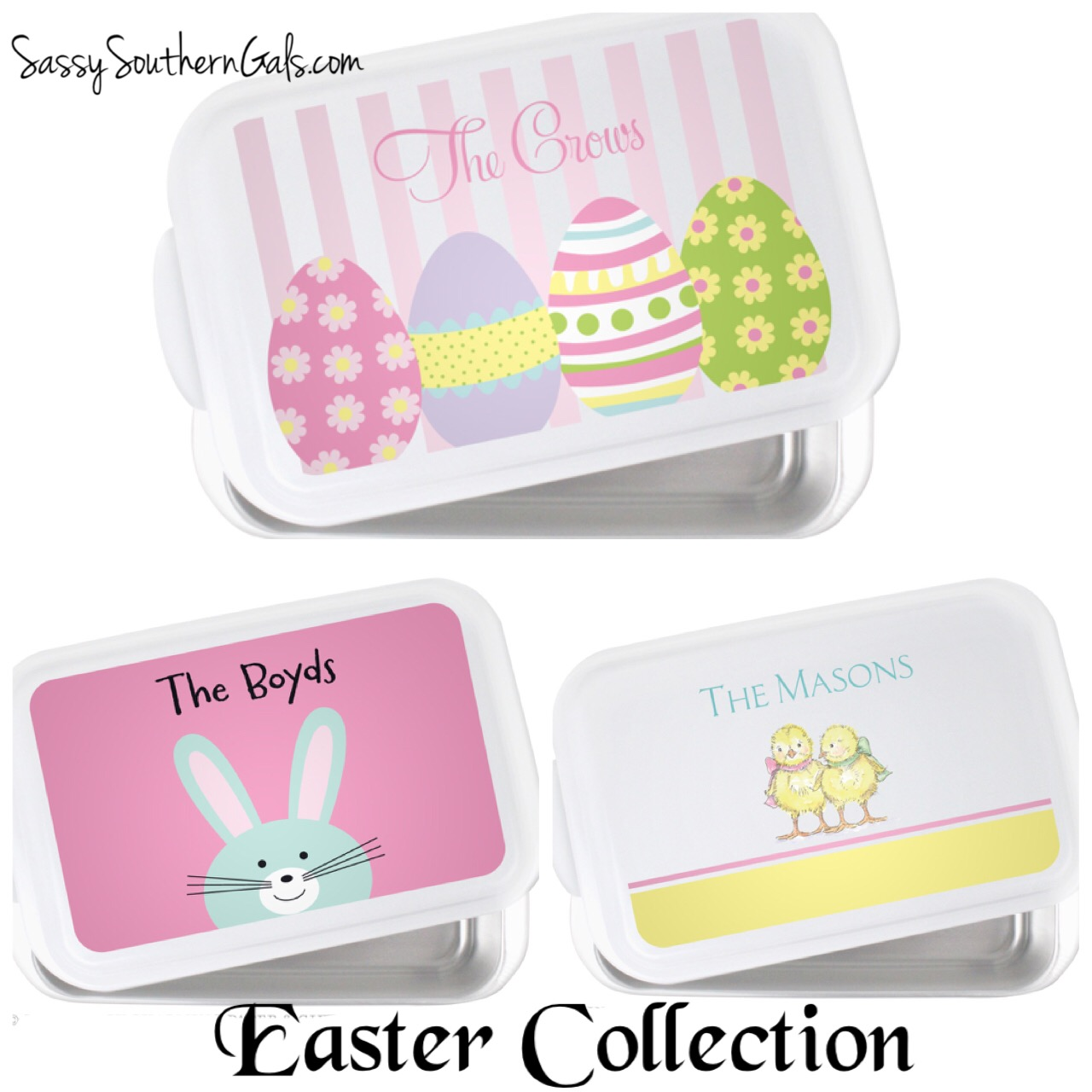 Easter Personalized Casserole Dish Monogrammed Casserole