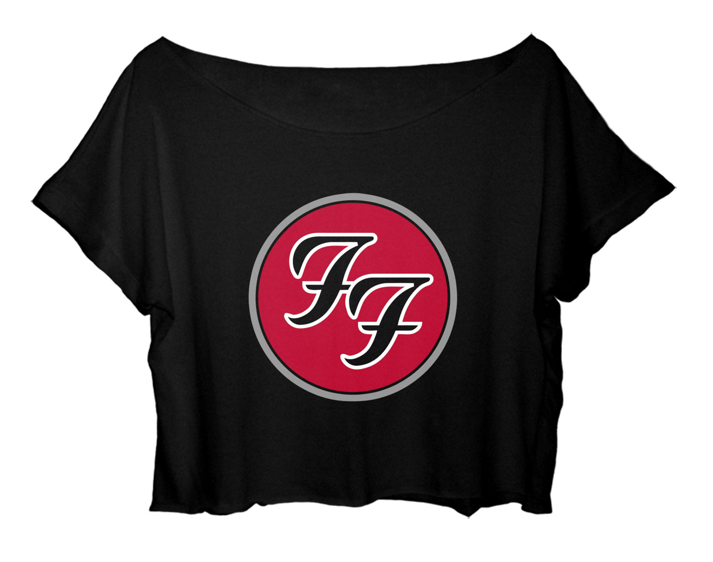 Women Crop Top Foo Fighter Symbol T Shirt Topteebase Online