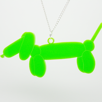 Balloon Dachshund Necklace