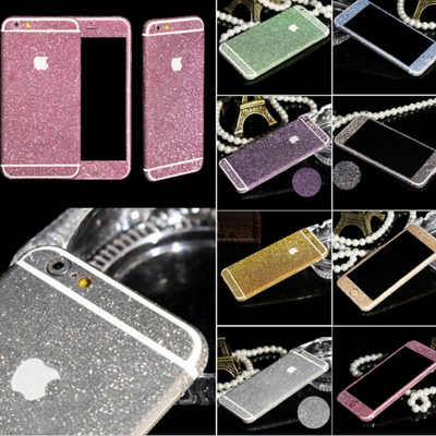 Iphone 6 plus, 6/6s - frosted ice glitter decal skin in assorted colors