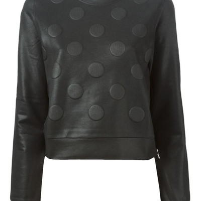 Diesel black gold black polka dot sweater