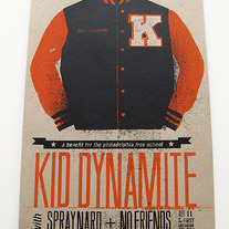 (SOLD OUT) Kid Dynamite Benefit Show Poster (Kraft Orange/Black)