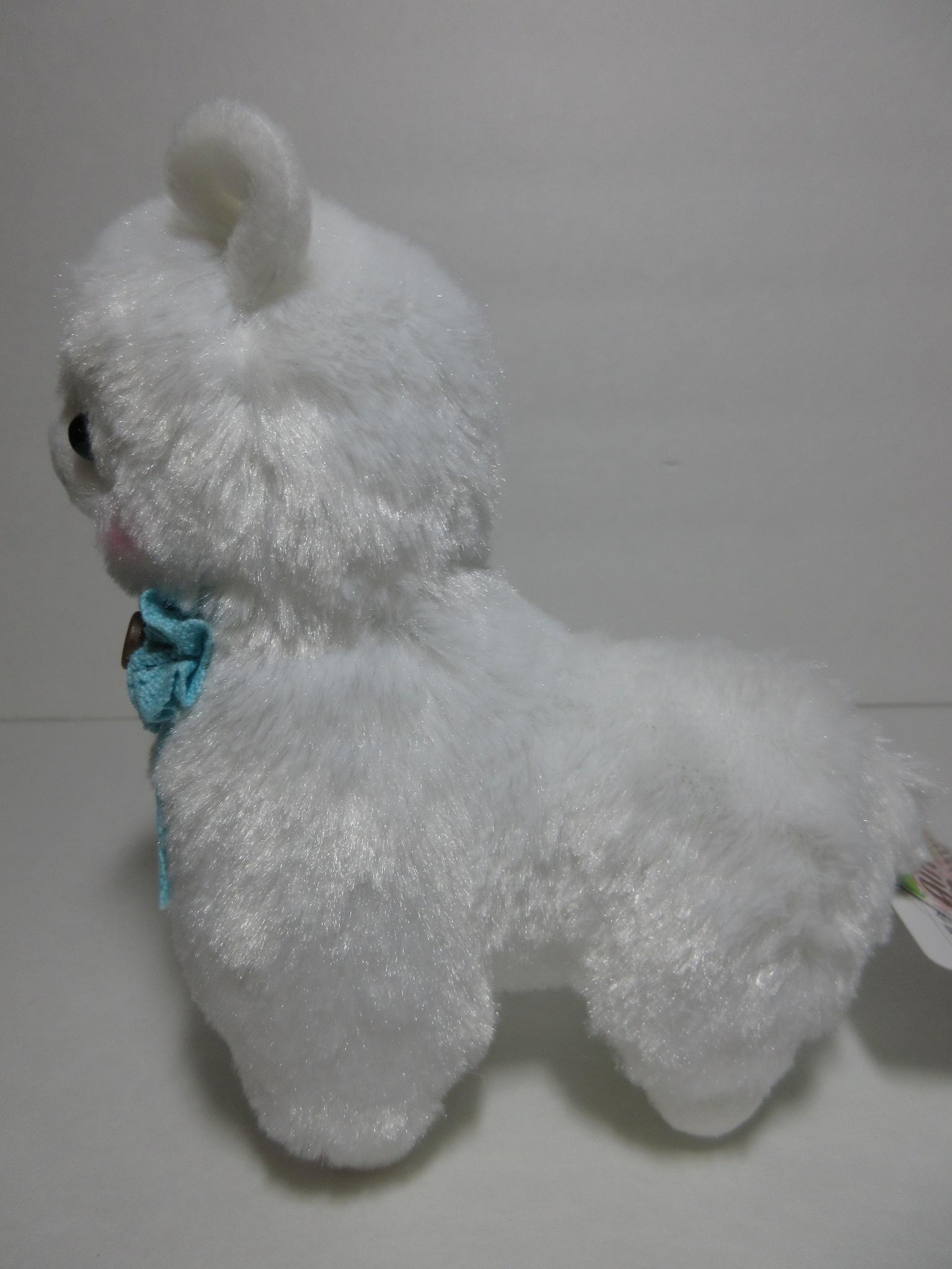 """Girly"" Alpacasso White Alpaca Blue Lacey Ribbon 16cm ..."