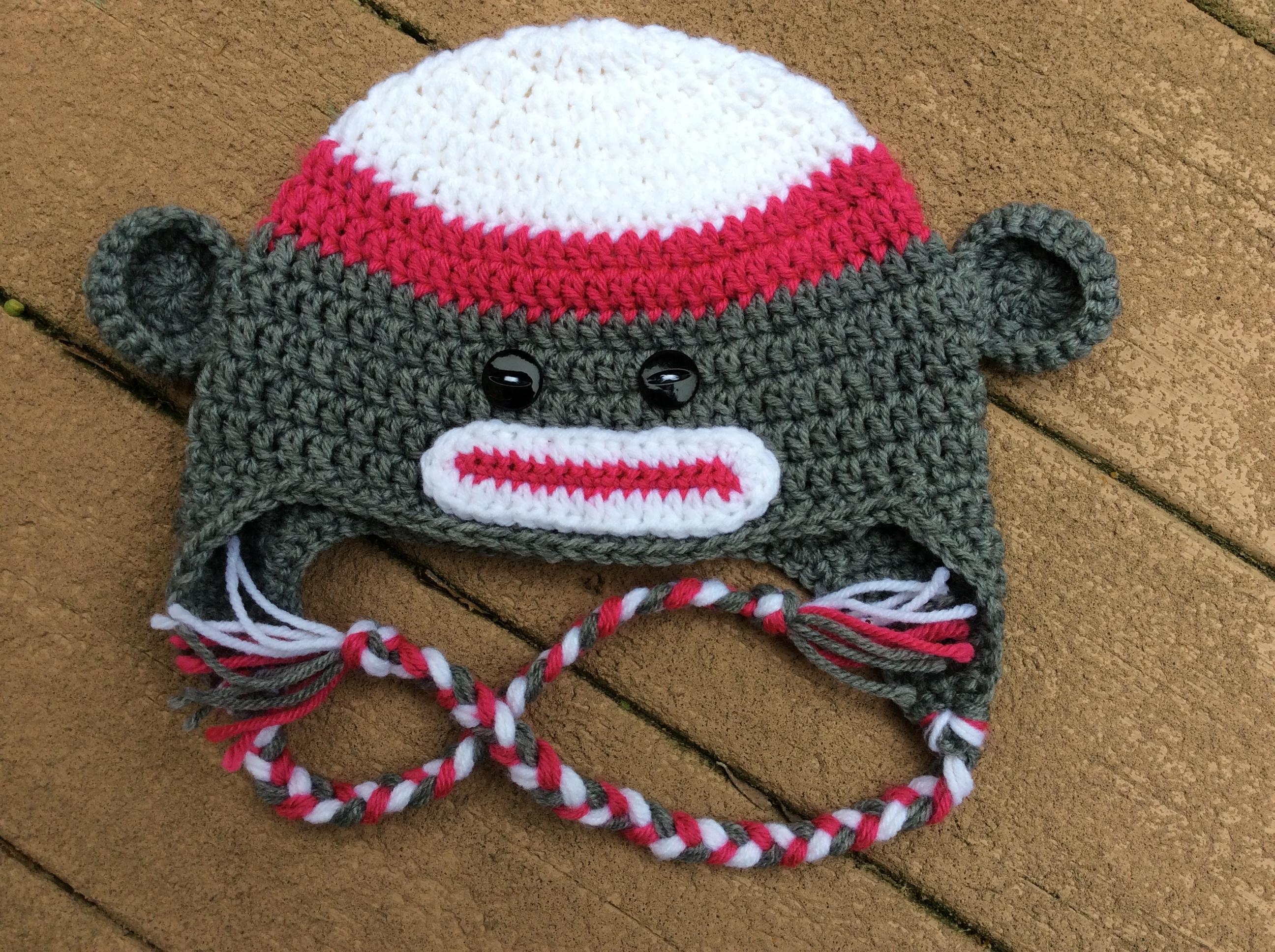 Crochet Sock Monkey Hat Yarnover The Moon Online Store Powered
