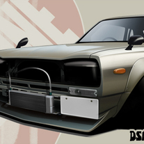 KPGC10 Hakosuka Skyline GT-R HUGE CANVAS print!