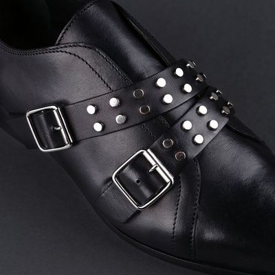 Diesel black gold gremmy dress shoe