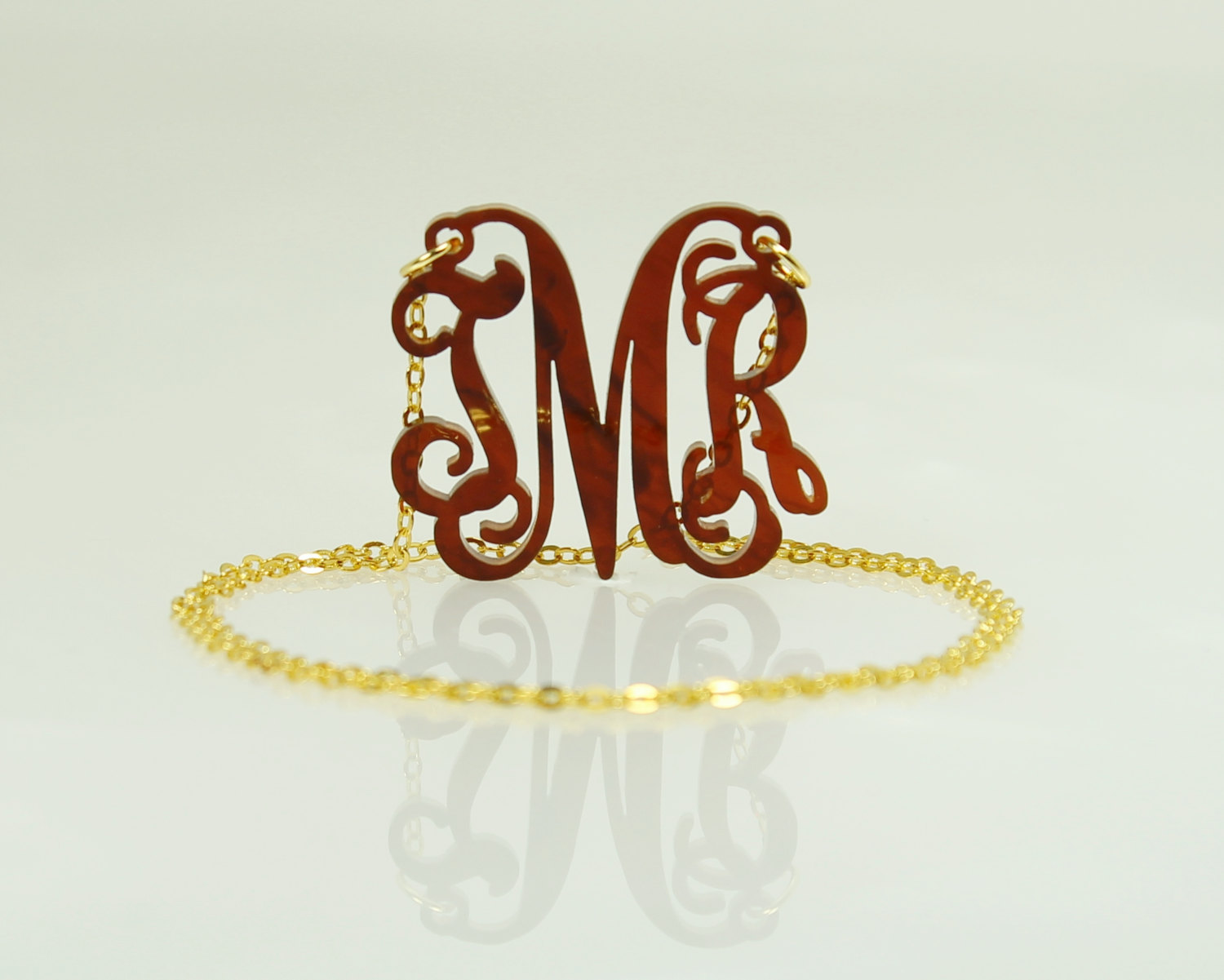 Myprincesscharms acrylic monogram necklace personalized for Acrylic letter necklace
