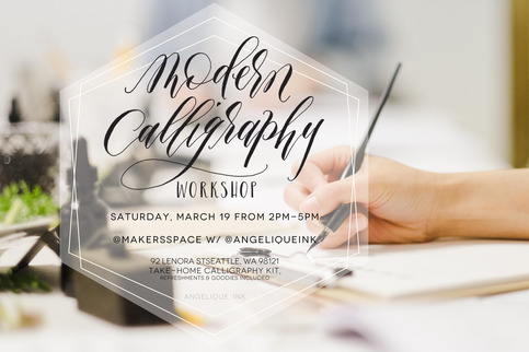 March 19 Seattle Modern Calligraphy Workshop