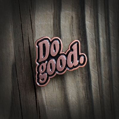 Do good lapel pin