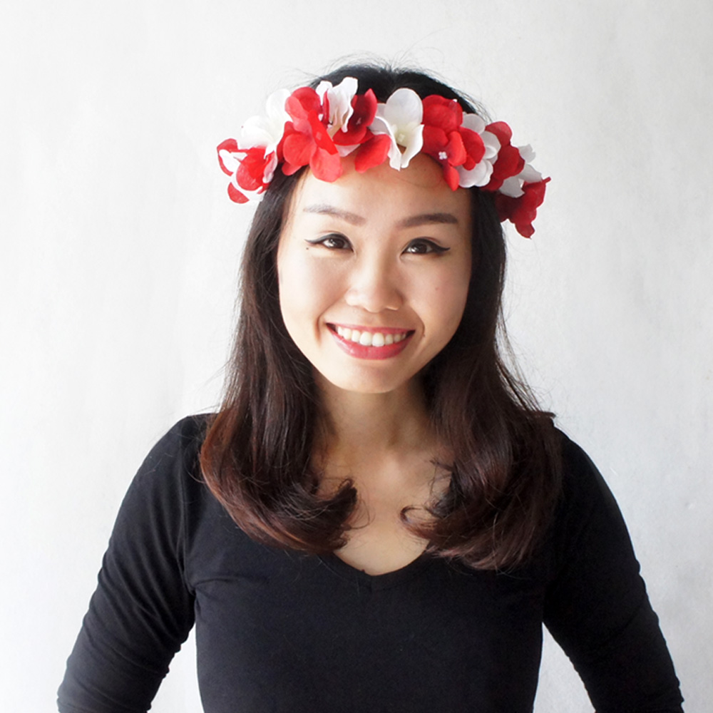 Red Flower Crown White Flower Halo Mix Colour Flower Crown Music