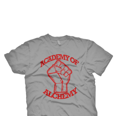 Academy of alchemy grey tee