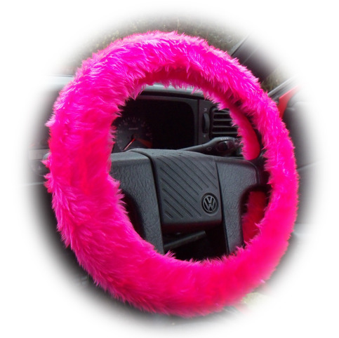 Furry Fuzzy Barbie Pink Fluffy Steering Wheel Cover Hot