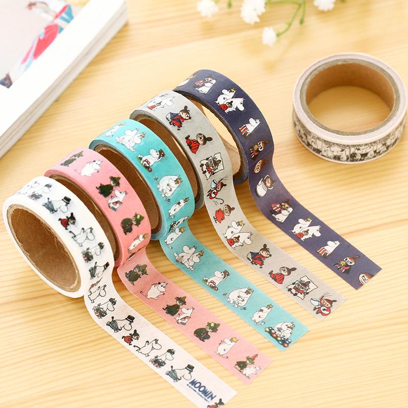 8pcs Moomins Washi Tape Decorative Tape Free Shipping