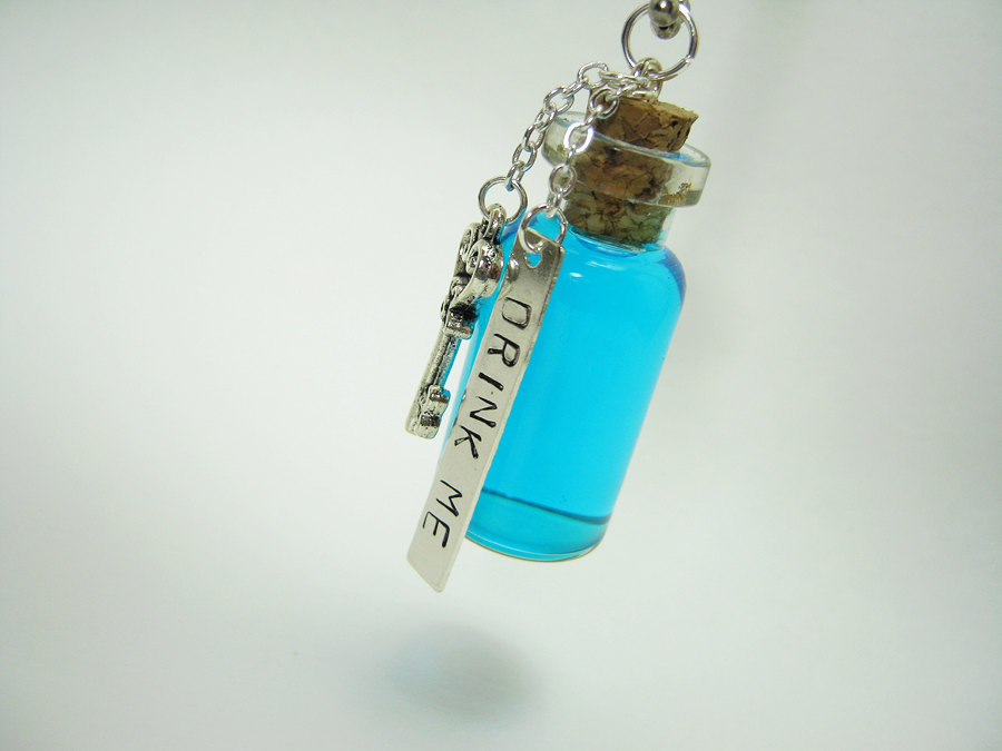 Drink me 2ml glass bottle necklace alice in wonderland glass vial drink me 2ml glass bottle necklace alice in wonderland glass vial pendant eat me mozeypictures Choice Image