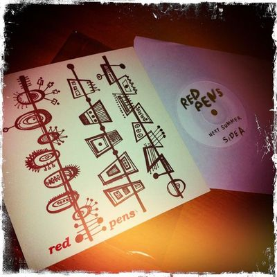 "Red pens - 'next summer'/'i run this' 7"" (limited edition black vinyl)"