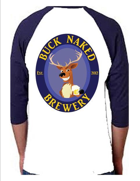 Buck naked logo baseball shirt on storenvy for Baseball logos for t shirts