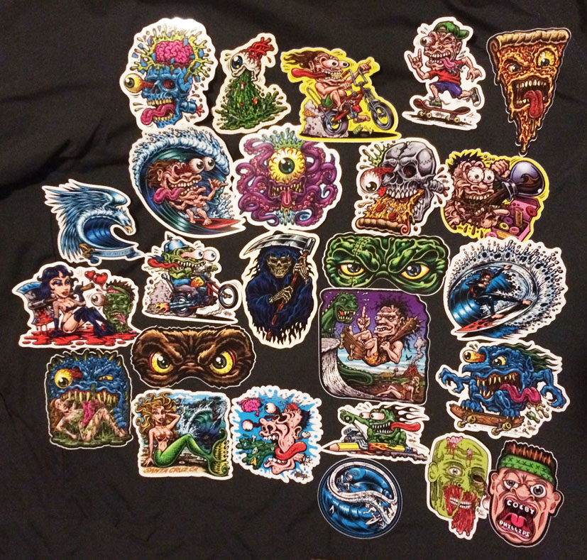 COMPLETE STICKER PACK With Full Color Shaped Vinyl Stickers - Full color vinyl stickers