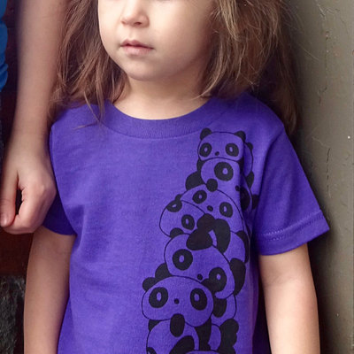 Gift for kids, panda shirt, t shirt, purple tee, toddler shirt, panda tee, kids shirt, graphic tee, toddler tee, panda gift, cute baby tee