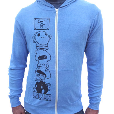 Mario gamer hoodie, zip up sweatshirt, blue hoodie for men, zip up hoodie, hooded sweatshirt, funny mario villains, comic shirt, geek gift