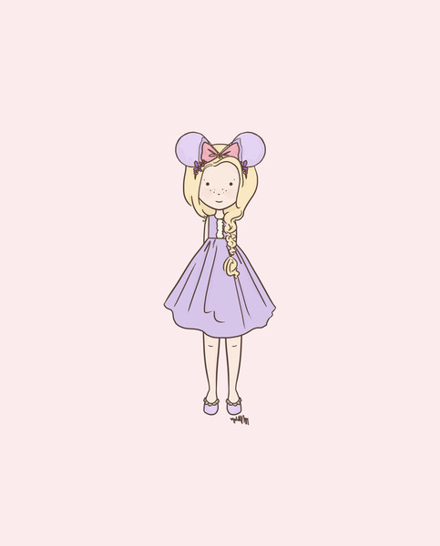 Barbie Nail Art Games Free Download: Disneybound Rapunzel Fan 1 (Color Options) On Storenvy