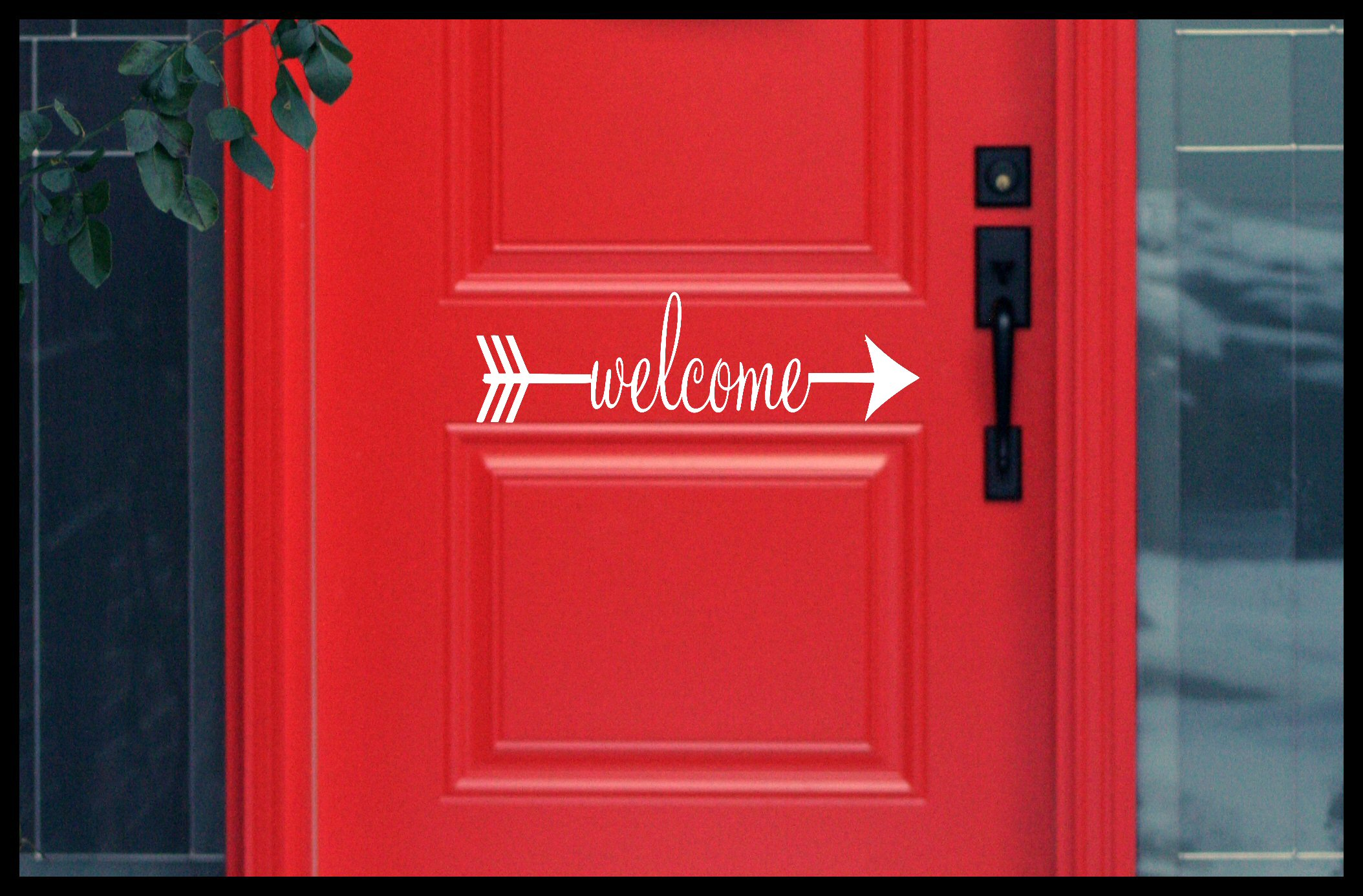 Welcome Arrow Door Decal & Welcome Arrow Door Decal · Stickie Situations · Online Store Powered ...