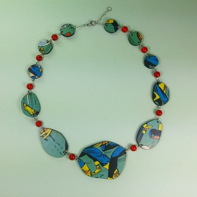 Rolling stone necklace - comic