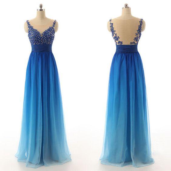 Charming O-Neck Prom Dresses,Noble Prom Dresses,Chiffon Prom Dresses ...