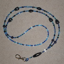 Beaded Lanyard Blue/Cobalt (Spec. Order)