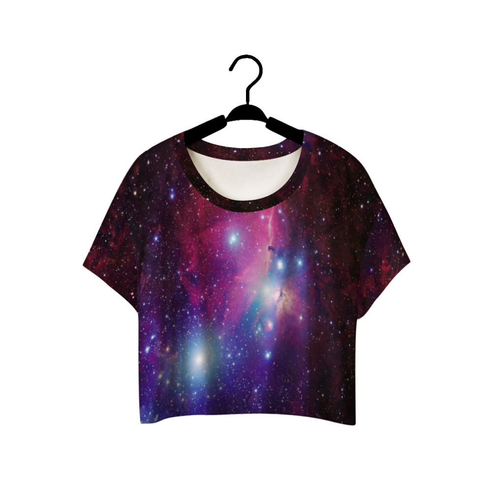 Galaxy Print Crop Top Pixie Poison Online Store Powered By Storenvy