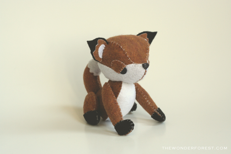 Mr. Fox - Retro Style Plush Collectible MADE TO ORDER