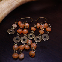 Brass and Aventurine Earrings