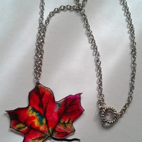 Colorful Autumn Leaf Necklace