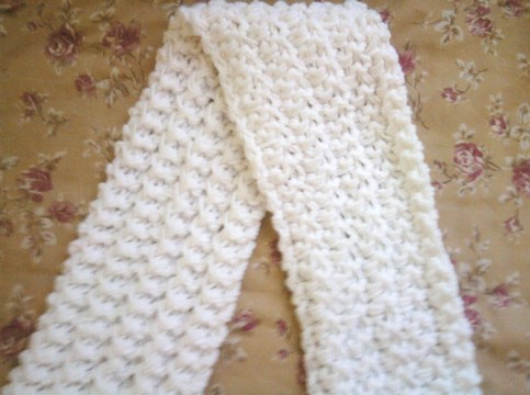 Double Cluster Knit Scarf