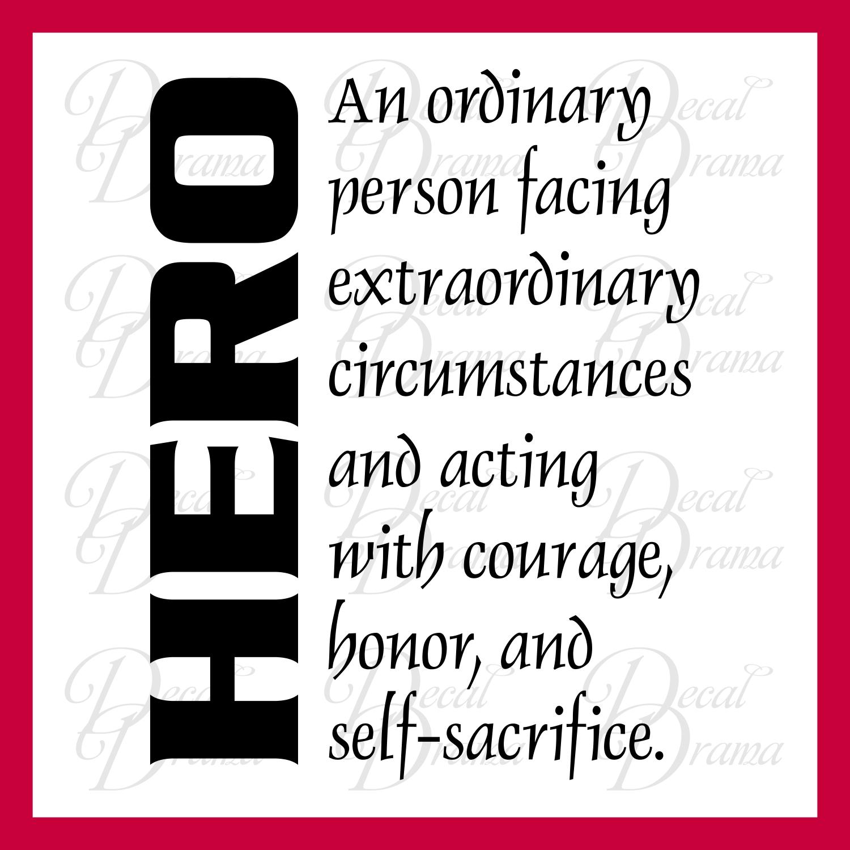 Definition essay hero