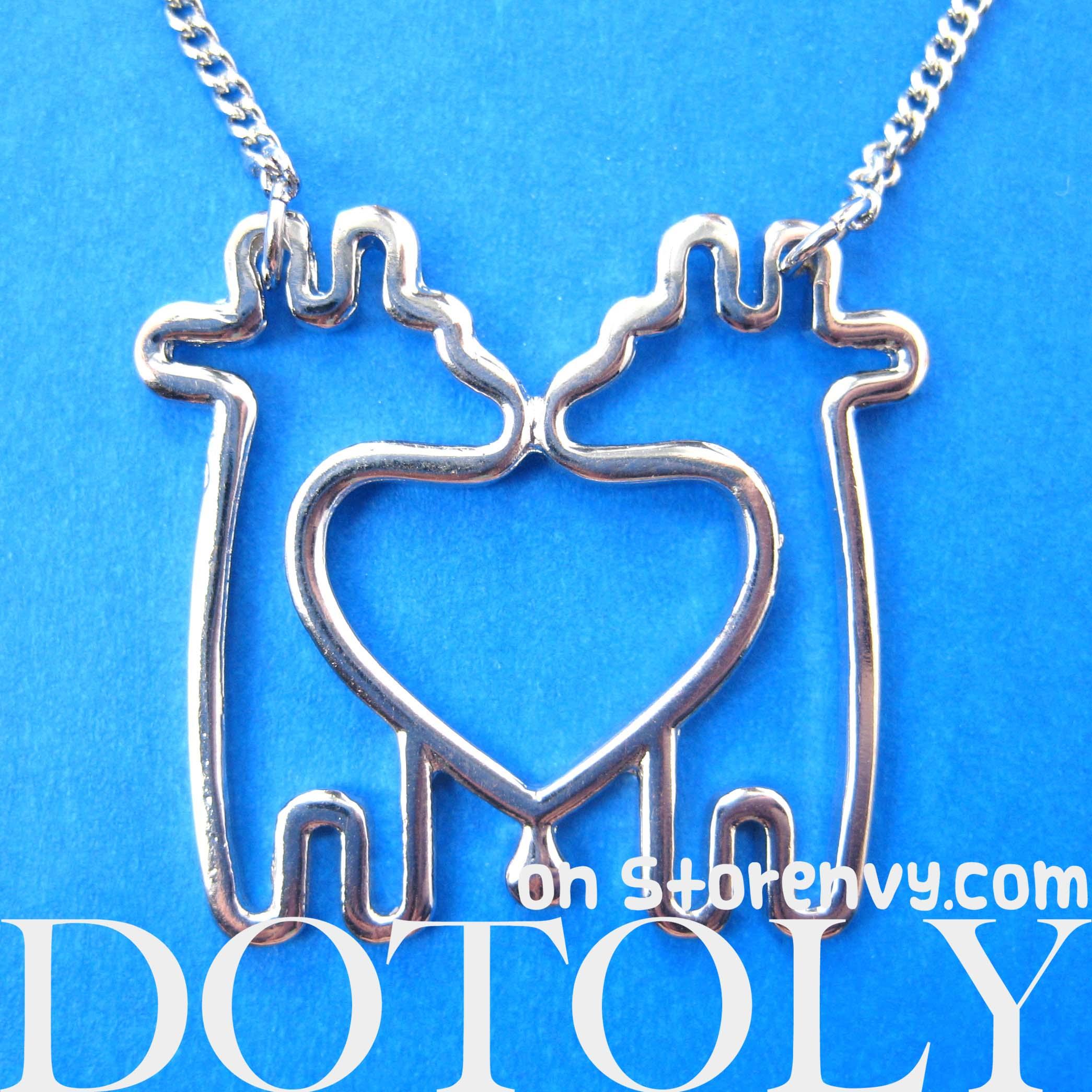 Dotoly Plus | Simple Giraffe Heart Love Animal Charm Outline ...