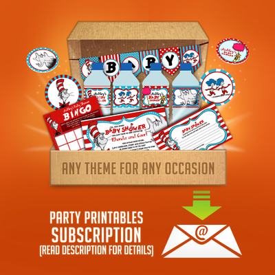 Printable party box subscription plans