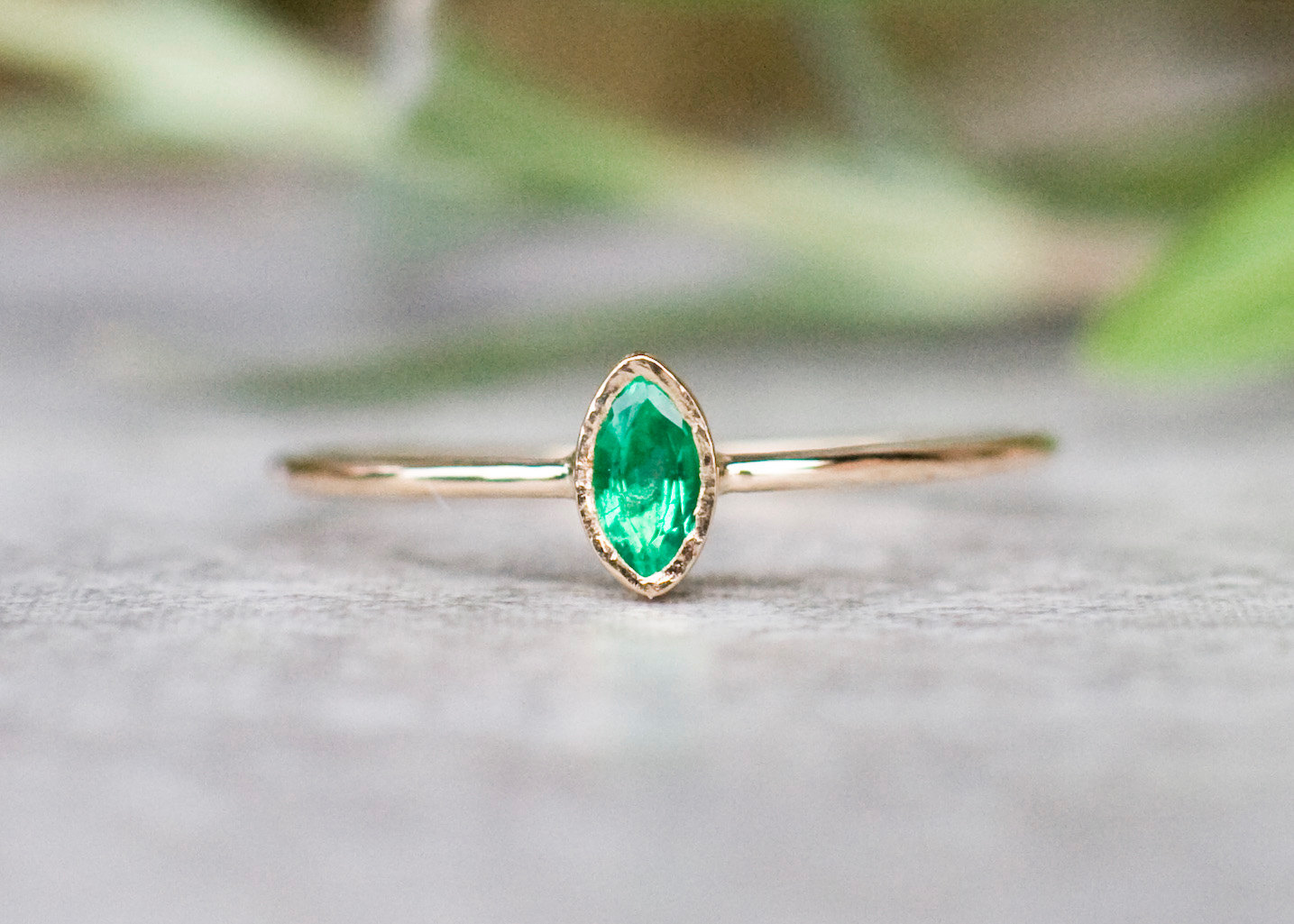 cut wedding rings engagment twig jewelry boho one jewellery of and engagement gemstone band kind ring emerald a diamond