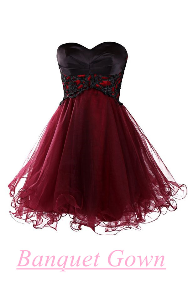 Cute Prom Gown,Lovely Homecoming Dresses,Simple Prom Dress,Burgundy ...